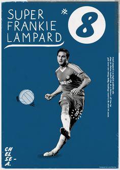 Football Legends Posters by Luke Barclay, via Behance