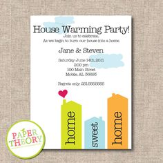 Good ideahouse warming party invite when moving to a new printable house warming invite by papertheory on etsy stopboris Gallery