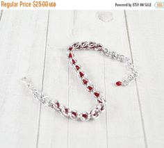 SUMMER SALE Chainmaille bracelet chainmail by SzkatulkaAmi on Etsy
