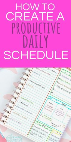 These printable planning pages will improve time management for moms! Simple step by step-how to make a daily schedule to keep you organized and productive! Planner Tips, Life Planner, Life Binder, Hourly Planner, Weekly Planner, Week Schedule, Toddler Schedule, Bujo, Planner Organization