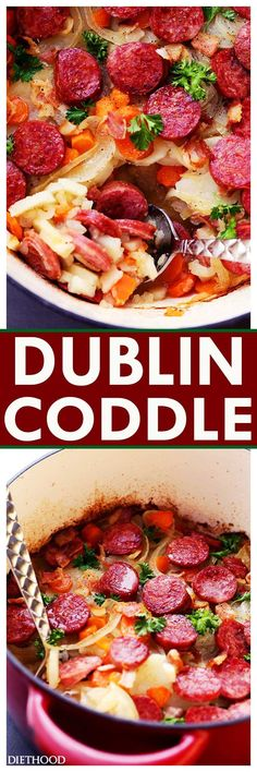 Dublin Coddle Recipe – An easy to make delicious and hearty traditional Irish winter stew with potatoes, sausages, and bacon.