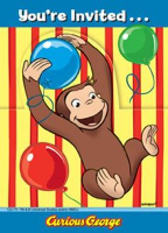 Find your Curious George party supplies, Curious George party favors, Curious George birthday decorations, Curious George party invitations, and more. Curious George Party, Curious George Birthday, Online Party Supplies, Kids Party Supplies, Curious George Invitations, Birthday Supplies, 8th Birthday, Birthday Ideas, Monkey Birthday