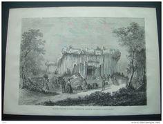 GRAVURE de 1868.. EXPOSITION MARITIME DU HAVRE. Extérieur de l'Aquarium.. dessin de M. Deroy