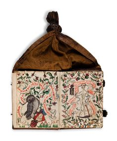 Prayerbook in German made by and for Katharina Röder von Rodeneck, a nun at the convent Frauenalb. One of the very rare surviving girdle books, this is a small gem that transmits the ambiance of the Middle Ages to today's readers.