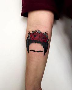 Imagem de black, frida kahlo, and red