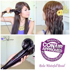 Conair Beauty Board Member Bebexo Adds The Perfect Curls To Her Waterfall Braid With