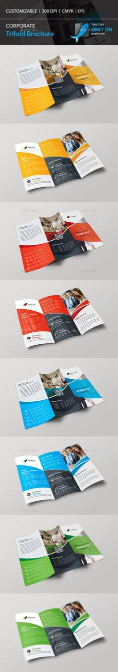 Trifold Brochure Template Vector EPS, AI Illustrator