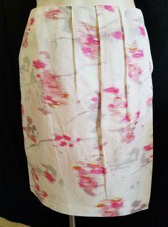 7645c0a489 Banana Republic Womens Skirt 12 White Lined Pockets Faux Wrap  #BananaRepublic #WrapSarong #Work