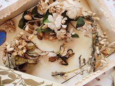 Eglantyne - Antique wax flowers