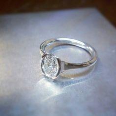 Original design #platinum #diamond #solitaire #jeweler #jewelrydesign #jewelerbench