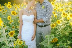 the sunflower wedding / Kristin Partin Photography