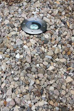 Bodeneinbaustrahler mit Edelstahlblende, inklusive Leuchtmittel