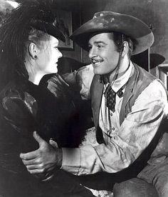 Errol Flynn and Alexis Smith in San Antonio ( 1945 )