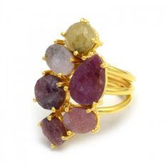 Prong Setting Gemstone Handmade Ring Latest Ring Designs, Handmade Rings, Druzy Ring, Gemstones, Jewelry, Jewlery, Gems, Jewerly, Schmuck