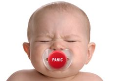 Panic Button Baby Pacifier.