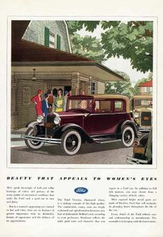 FORD VICTORIA 1931 Ad WOMEN'S APPEAL League SOCIAL SERVICES whitewall spokes