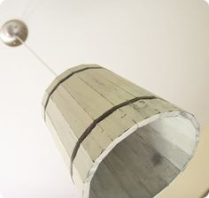 lamp from garden container...available at garden stores