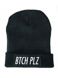 """Btch Plz"" Beanie by Classy Brand (Black/Heather) #InkedShop #beanie #hat #style #accessories"