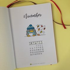 Bullet Journal: My November Set Up — Square Lime Designs November bujo cover Bullet Journal Front Page, Bullet Journal Cover Ideas, Bullet Journal 2019, Bullet Journal Layout, Journal Covers, Journal Pages, Bullet Journal November Cover Page, Bellet Journal, Kalender Design