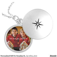 Personalized Gift For Grandma Silver Plated Locket