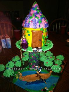 Coolest Rapunzel Birthday Cake for 7-Year Old Girl... This website is the Pinterest of birthday cake ideas