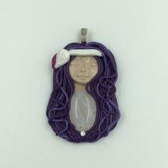 Purple Moon Princess pendant featuring Moonstone