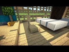 Minecraft Furniture - Seat, Chair and Stool Design Tutorial Minecraft Furniture - Seat, Chair and St Cool Minecraft, Minecraft Buildings, Lego Chima, Outdoor Furniture Design, Minecraft Furniture, Patio Chairs, Design Tutorials, Stool, Places