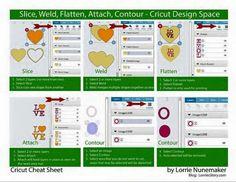 Slice, Weld, Flatten, Attach, Contour_Cricut Cheat Sheet by Lorrie Nunemaker