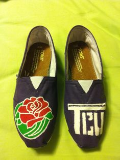 #TCU Toms I hand-painted for my college - TCU
