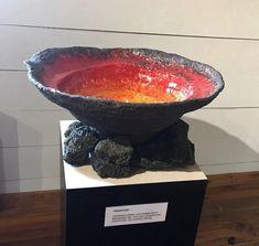 """""""Erupcion"""" - from the exhibition """"Cerámica y Volcanes"""", by Carolina Nieto."""