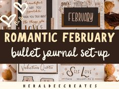 Spread the love this February with this Romantic February Bullet Journal Set-up. Be inspired with creative ideas for your bullet journal spreads! February Bullet Journal, Bullet Journal For Beginners, Creating A Bullet Journal, Bullet Journal Set Up, Bullet Journal Cover Page, Bullet Journal Tracker, Bullet Journal Themes, Journal Covers, Bullet Journal Inspiration