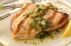IFS recipe this week: Check out this delicious recipe for Swordfish Steaks with Jalapeño-Mint Butter Sauce from Weber—the world's number one authority in grilling. Fish Dishes, Seafood Dishes, Fish And Seafood, Seafood Recipes, Weber Grill Recipes, Grilling Recipes, Grilling Tips, Butter Mints, Butter Sauce