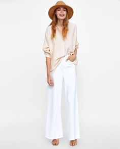 изображение 1 из БЛУЗА С АСИММЕТРИЧНЫМ НИЗОМ от Zara Linen Shop, Flowing Dresses, Draped Fabric, Zara Women, Blouse, Fashion Dresses, Street Style, Lingerie, My Style