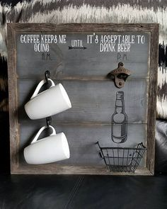 Man Cave Sign Ideas - Drink Coffee AM until Alcohol PM