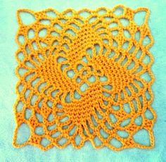 free Carousel granny square crochet pattern