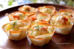 簡単おもてなし♪「餃子の皮で明太チーズカップグラタン」 - ライブドアニュース