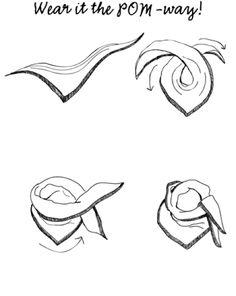 Sjaal - Shawl - Omslagdoek - Col *Scarf - Cowl - Wrap ~Manier om een sjaal te knopen *How To Tie A Scarf~