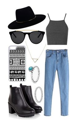 """""""Untitled #33"""" by steph-bball-luvlife ❤ liked on Polyvore featuring Pandora, Topshop, Zimmermann, Smoke & Mirrors, CellPowerCases and Banana Republic"""