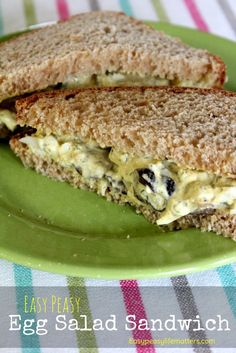 Easy Peasy Egg Salad Sandwich - A quick, healthy and easy recipe ...