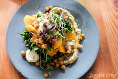 Karma & Crow | Foodie Ling    Loving the innovative menu here.  Sticky Roast Pumpkin with whipped fetta, baba ganoush, caramelised chickpeas and toast