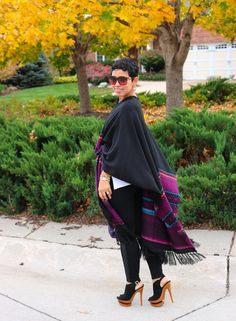 Belted Poncho & Leggings - Mimi G Style