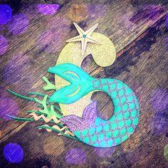 Under the Sea Birthday Cake Topper. Under the Sea topper Meerjungfrau Schwanz Nummer Kuchen Topper. Mermaid Party Food, Mermaid Theme Birthday, Mermaid Parties, Mermaid Tail Cake, Mermaid Cakes, Mermaid Mermaid, Number Cake Toppers, Under The Sea Theme, Glitter Cards