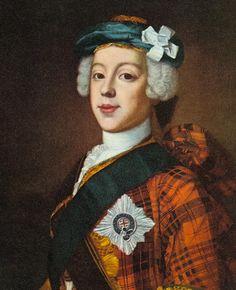 Bonnie Prince Charlie, Charles Edward Stuart, Jacobite rebellion 1745.
