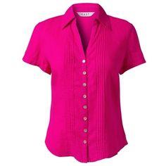East Light Linen Shirt, Fuschia - Polyvore