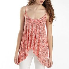 b35a534118aa Bisou Bisou® Sharkbite Cami Tunic - jcpenney