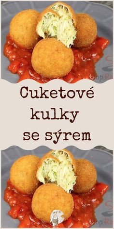 Cuketové kulky se sýrem #Cuketové Party Snacks, Cornbread, Food And Drink, Appetizers, Drinks, Cooking, Ethnic Recipes, Cooking Recipes, Essen