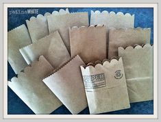 turn grocery store paper bags into petite gift-givng sacs