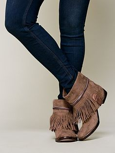 Free People Lonesome Fringe Ankle Boot - love these!