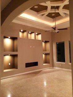 mullti level ceiling design with led ceiling lights ideas praveen