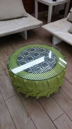 4 Gorgeous DIY Furniture for your Home - Decorreal Tire Furniture, Diy Furniture Projects, Recycled Furniture, Home Decor Furniture, Diy Home Decor, Tire Table, Tire Chairs, Jardin Decor, Reuse Old Tires